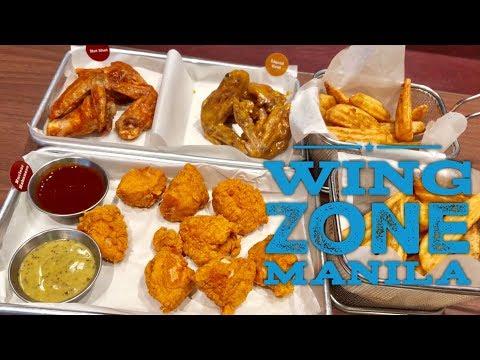 Flavorful Chicken Wings Manila: Wing Zone Top Of The Glorietta Mall Makati