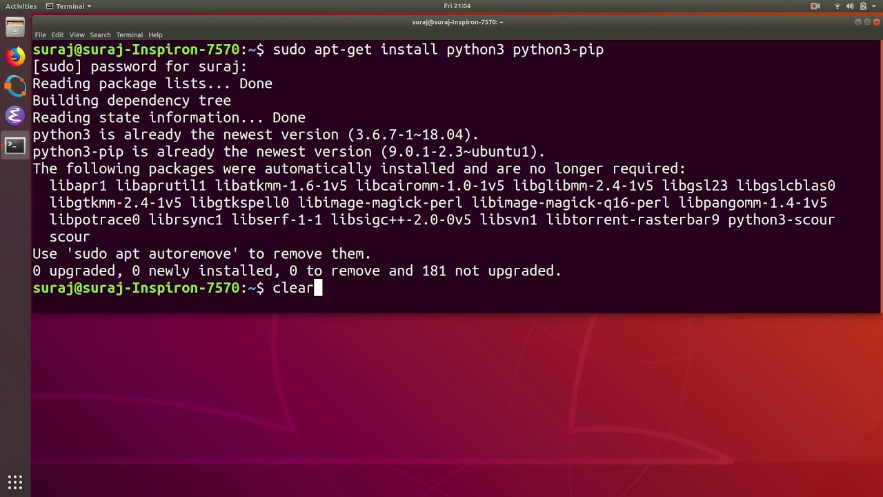Python Import Error ModuleNotFoundError No Module Named Pandas in Ubuntu  Linux
