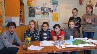 7-8 классы репетируют новогодний КВН