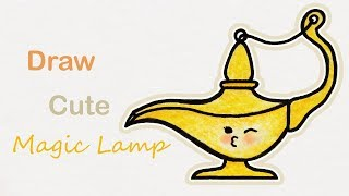 How to draw a cute Magic Lamp | Step by step art for kids Mp3