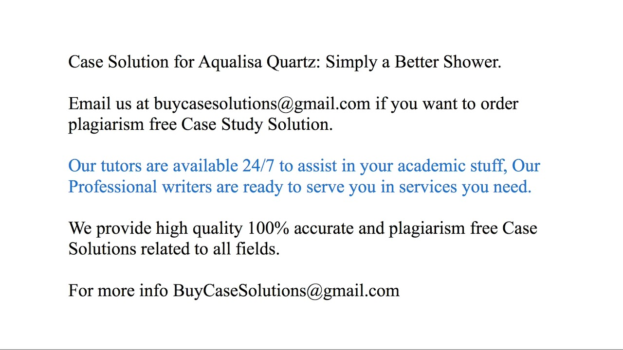 aqualisa quartz simply a better shower case study analysis