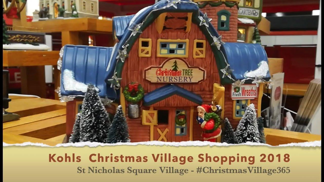 St Nicholas Christmas Village.Kohls Christmas Village Shopping