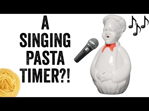 Kitchen gadget testing - Al dente singing pasta timer