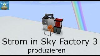 Den ersten Strom produzieren in Sky Factory 3