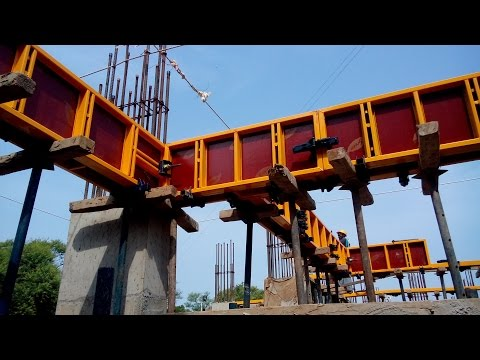 Formwork I Concrete Beam Construction I Shuttering System of