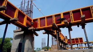 This video shows complete step by step on site live demonstration of Beam formwork / shuttering installation for RCC beam for whole building. Beam formwork is ...