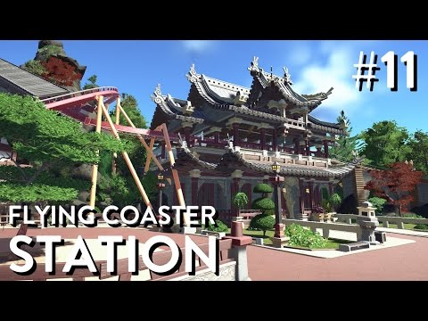 Planet Coaster: Fantasy Valley (Part 11) - Flying Coaster Station