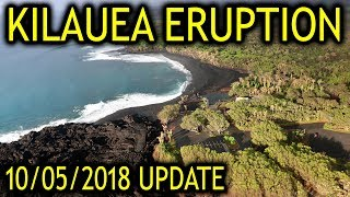 NEWS UPDATE Hawaii Kilauea Volcano Eruption Lava Report for 10/05/2018