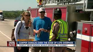 Video Travel trailer removed from I-275 overpass in St. Pete after crash download MP3, 3GP, MP4, WEBM, AVI, FLV Agustus 2018