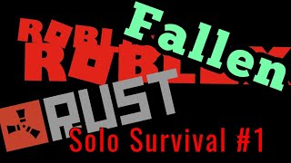 Roblox Fallen | Solo #1 [Building a starter]