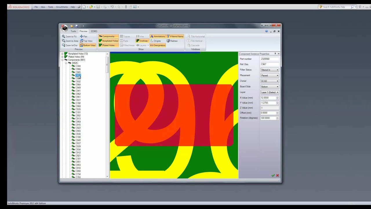 Using circuitworks in SolidWorks