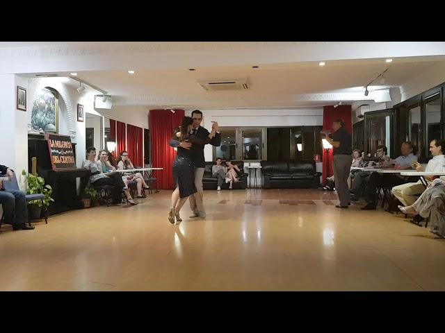 Argentinos tango show en Madrid, Cristian Quevedo y Micaela Dagnino en La milonga del Centro