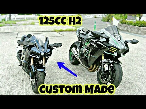 Modified Kawasaki Z125PRO Into Ninja H2 By Pleasure MC