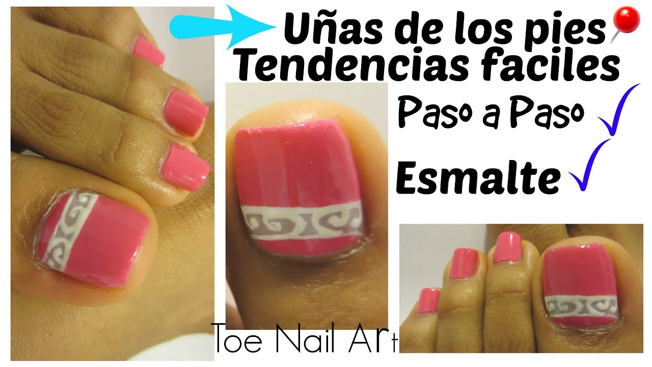 Uñas de Moda de los pies primavera-verano facil/Street toe nail art ...