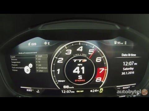 2016 Audi TTS 0-60 MPH Test Video – 292 HP Turbocharged 2.0L