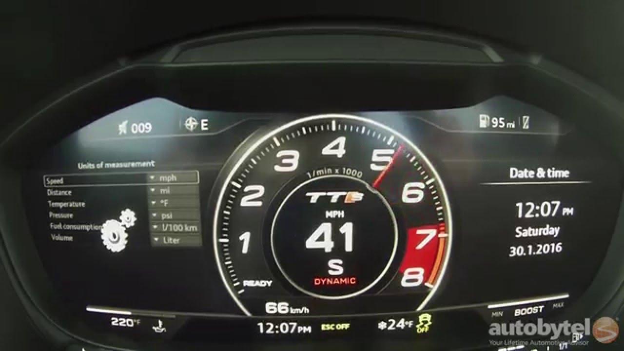 2016 Audi Tts 0 60 Mph Test Video 292 Hp Turbocharged 2 0l