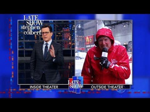Winter Storm Crazy Balls Can't Shut Down The Late Show