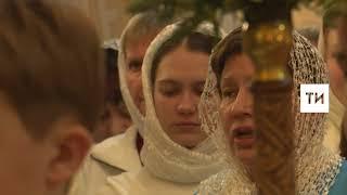 Рождественская служба в храме Сошествия Святого Духа в Казани