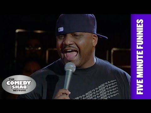 Aries Spears⎢Look How Uncomfortable This White Dude Is!⎢Shaq's Five Minute Funnies⎢Comedy Shaq
