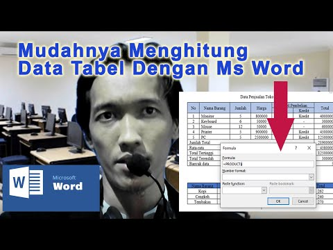 Mudahnya menghitung data table dengan ms word || Easy to calculate table data with ms word
