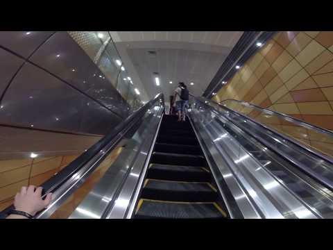 Bencoolen MRT Station - Escalators