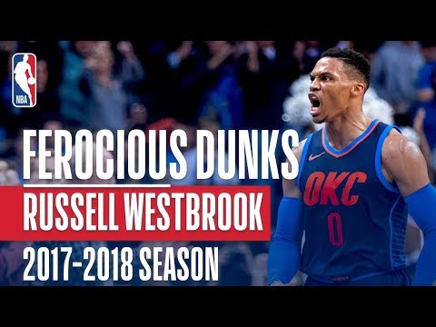 Russell Westbrook's Ferocious Dunks of the 2017-2018 Regular Season