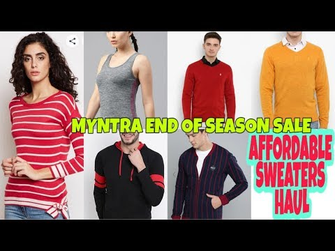 MYNTRA HUGE AFFORDABLE SWEATERS HAUL// RED TAPE/HRX/DIFFERENCE OPINION/TAANZ