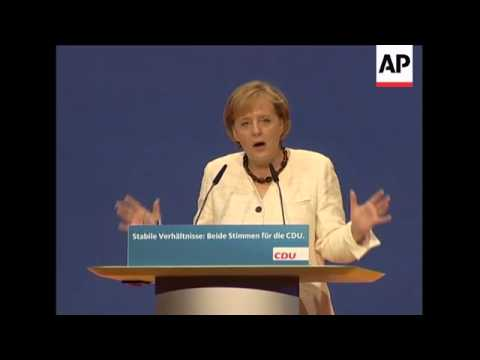 Merkel at final CDU rally before election