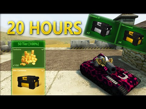 1000 STARS IN 20 HOURS! Road To Skin Container | Tanki Online!!