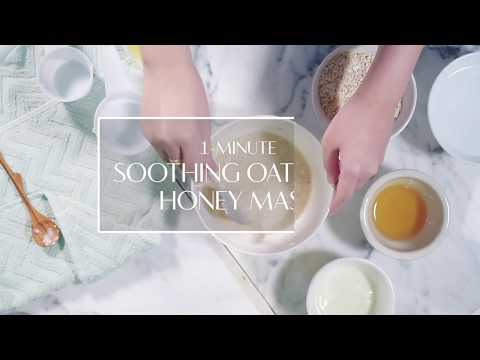 One-minute face mask: Soothing oatmeal