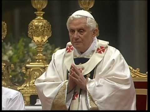 Benedetto XVI - Canto del Vangelo - Messa di Maria Santissima Madre di Dio 2010