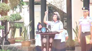 Upacara Bendera Senin 03 Februari 2020 Plt. Kepala BPSDM Hukum dan HAM Menjadi Inspektur Upacara