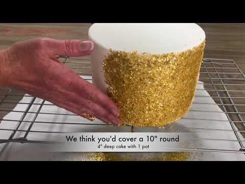 How to make an Edible Glitter Cake