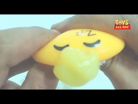 Squishy Vs Slime : Adorable Squishy Squeeze Vomiting Slime Gadetama Egg Unboxing - YouTube
