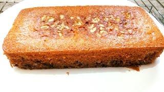 Eggless Date And Walnut Cake - Date Walnut Cake/Eggless Date Walnut Cake/Eggless Cake Recipe
