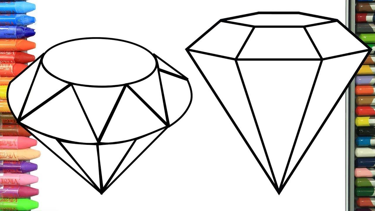 Cómo Dibujar Y Colorear Diamantes Brillantes Dibujos Para Niños