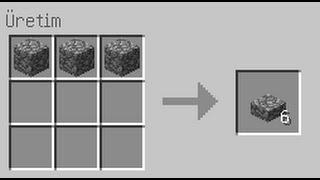 Minecraft Kırıktaş Basamağı Ve Taş Basamağının Yapımı