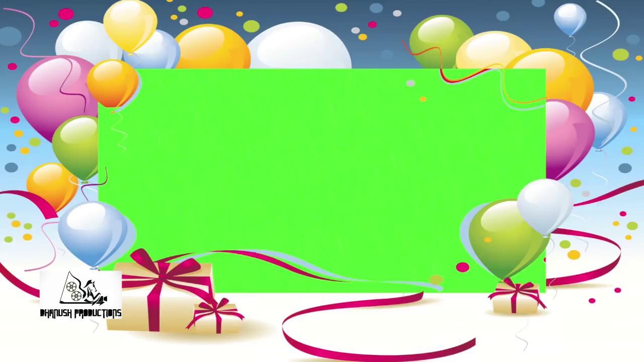 b day invitation card template green