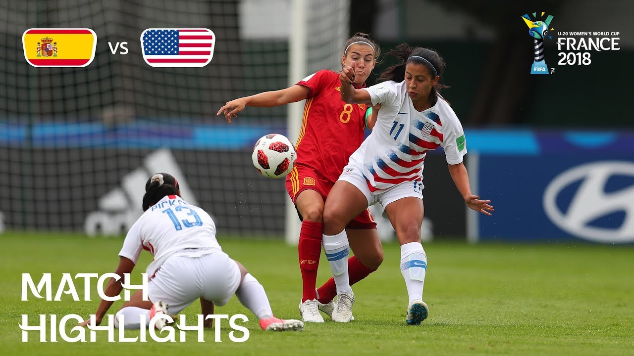81217e013db Spain v. USA - FIFA U-20 Women s World Cup France 2018 - Match 21 ...
