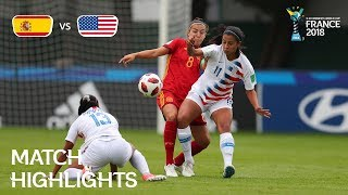Spain v. USA - FIFA U-20 Women's World Cup France 2018 - Match 21