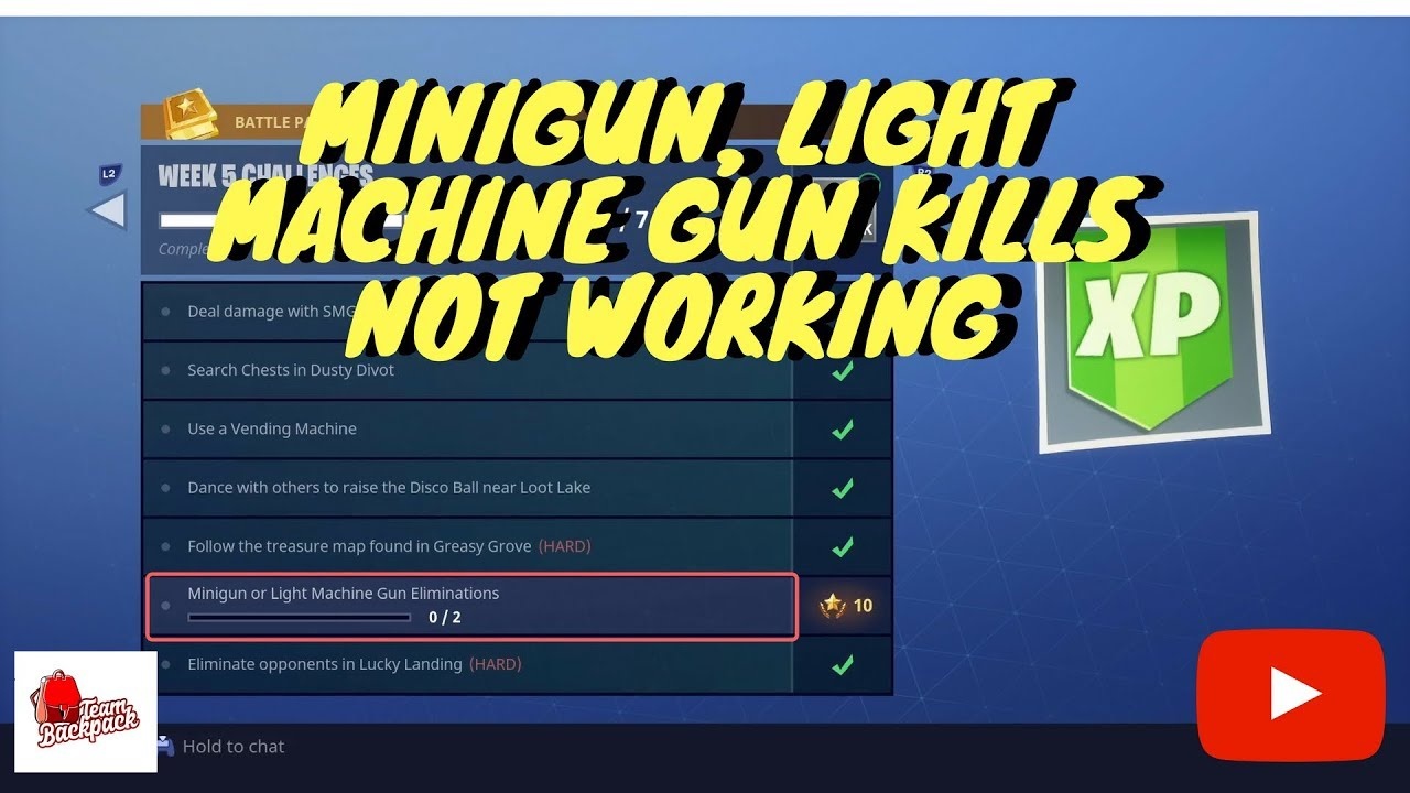 Fortnite Light Machine Gun Challenge Not Working Inspirational