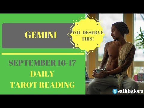 """GEMINI - """"THE HAPPILY EVER AFTER YOU DESERVE"""" SEPTEMBER 16-17 DAILY TAROT READING"""