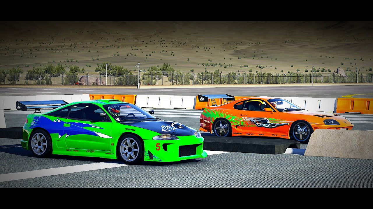 forza 6 fast and furious toyota supra vs mitsubishi eclipse gs drag race youtube - Mitsubishi Eclipse Fast And Furious Wallpaper