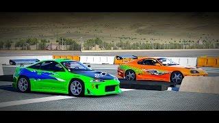Forza 6: Fast and Furious - Toyota SUPRA vs. Mitsubishi ECLIPSE GS   Drag Race