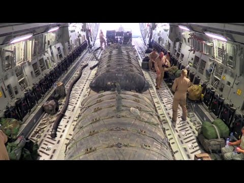 How to Move 9,000 Gallon of Jet Fuel: C-17 Hauling Fuel Bladders