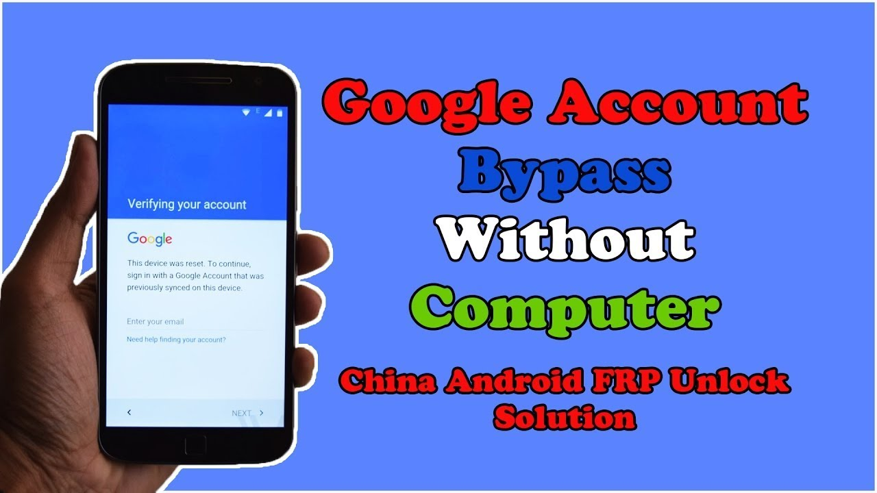 How To Bypass Google Account On Android Phone Without