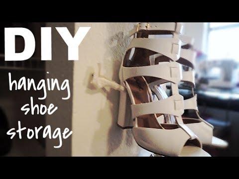 Diy Hanging Shoe Storage Youtube