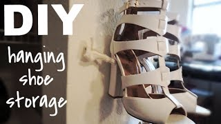 Diy| Hanging Shoe Storage