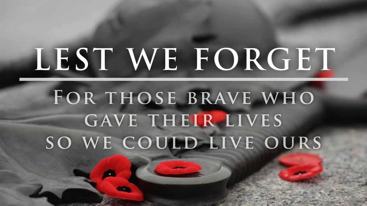 Lest we Forget - WW I - Remembrance Day 2013 - YouTube