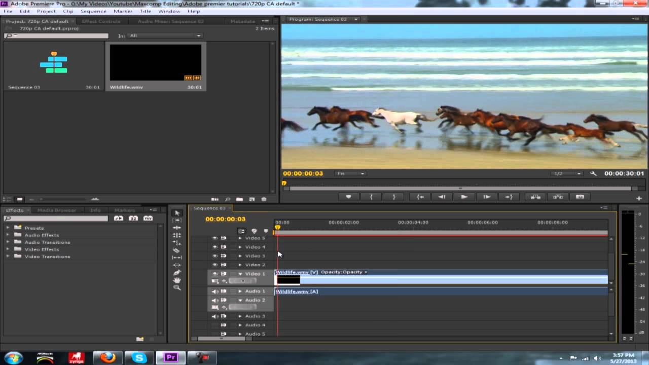 Adobe Premiere Tutorial: How to Cut Video and Audio Clips